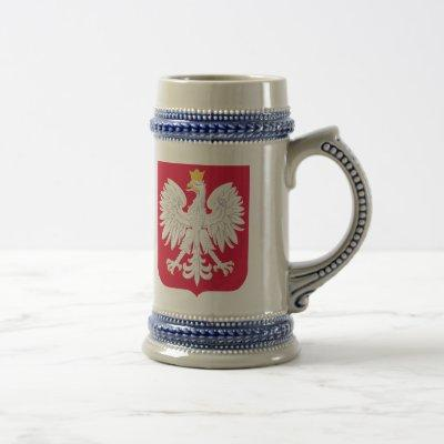 Polish Emblem - Poland Shield - Polska Herb Polski Beer Stein