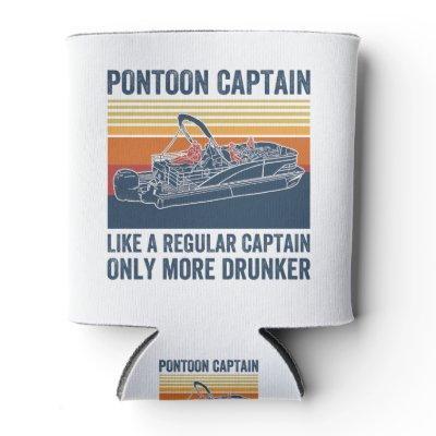pontoon captain T-shirt Can Cooler