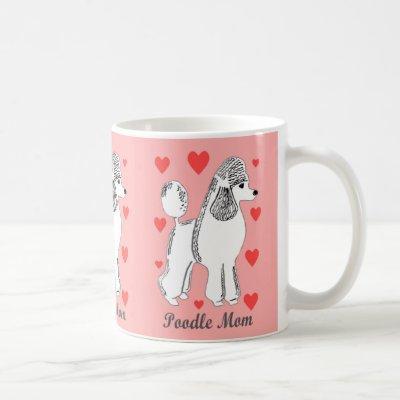 Poodle Mom Pink Mug