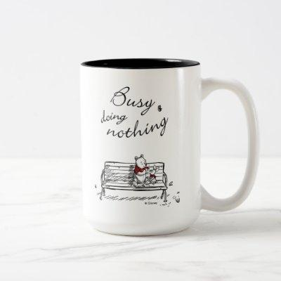 Pooh & Piglet | Busy Doing Nothing Two-Tone Coffee Mug