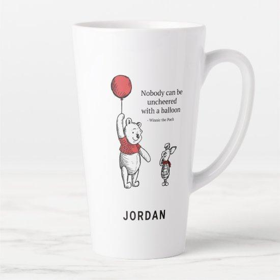 Pooh & Piglet   Nobody Can Be Uncheered Latte Mug