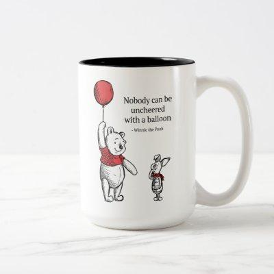 Pooh & Piglet | Nobody Can Be Uncheered Two-Tone Coffee Mug