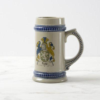 Poole Family Crest Beer Stein