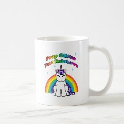 Poop Glitter Fart Rainbows Coffee Mug
