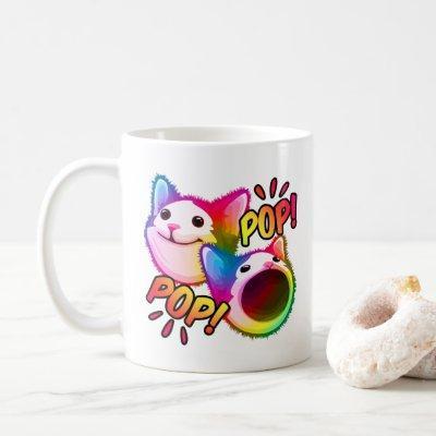 pop cat popping cat meme coffee mug
