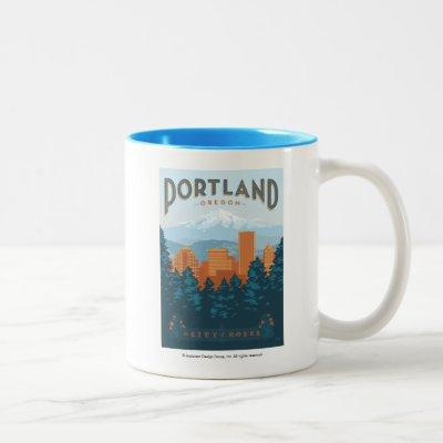 Portland, OR Two-Tone Coffee Mug