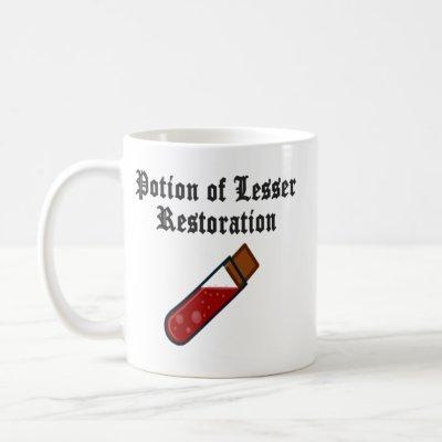 Potion of lesser restoration mug