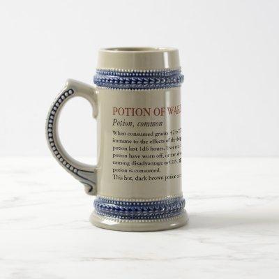 Potion of Wakefulness: Caffiene addict Beer Stein