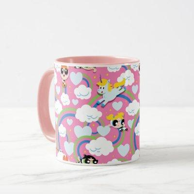 Powerpuff Girls & Donny Rainbow Pattern Mug