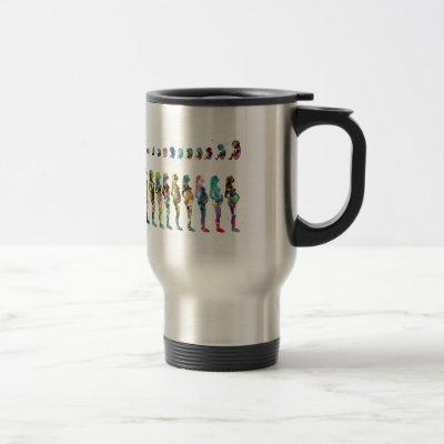 Pregnancy stages travel mug