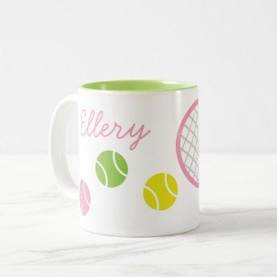 Preppy Tennis Personalized Mug