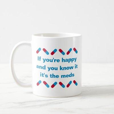 Prescription Meds Funny Happy Pills Medical Humor Coffee Mug