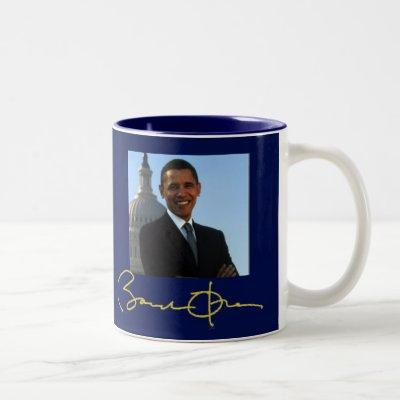 President Barack Obama signature Two-Tone Coffee Mug
