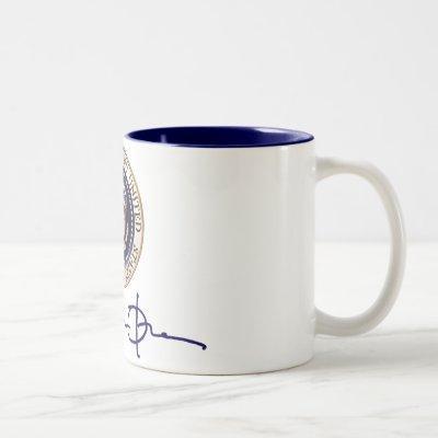 President Barack Obama Signature Two-Tone Coffee Mug