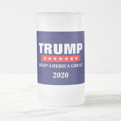 PRESIDENT DONALD TRUMP 2020 FROSTED GLASS MUG