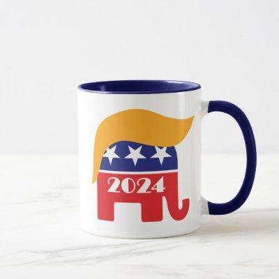 President Donald Trump 2024 GOP Elephant Hair Mug