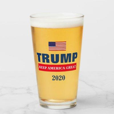 PRESIDENT DONALD TRUMP KEEP AMERICA GREAT GLASS