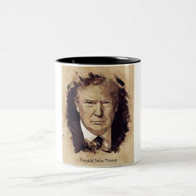 President Donald Trump Two-Tone Coffee Mug