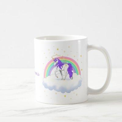 Pretty Purple Sweet Dreams Rainbow Unicorn Coffee Mug