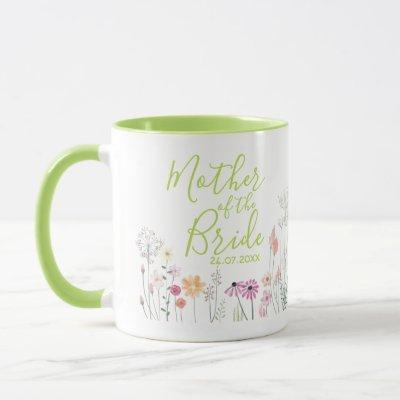 Pretty Wildflower Mother of the Bride Mug