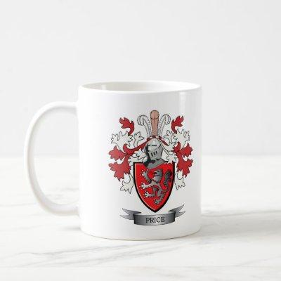 Price Family Crest Coat of Arms Coffee Mug