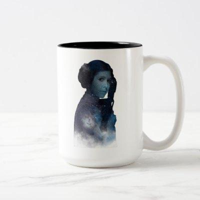 Princess Leia | Space Silhouette Two-Tone Coffee Mug