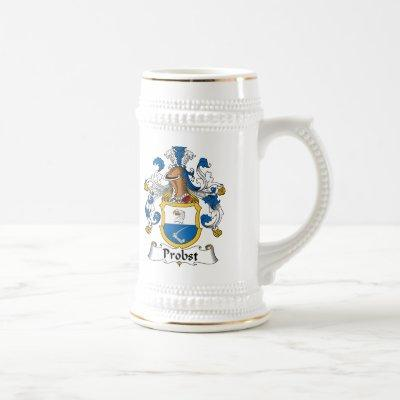Probst Family Crest Beer Stein
