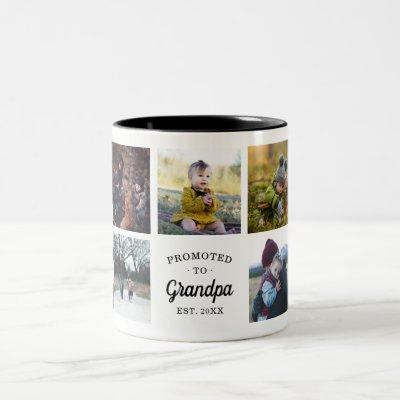 Promoted to Grandpa Established Two-Tone Coffee Mug