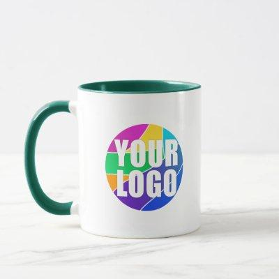 Promotional Business Logo Giveaway, Green Mug