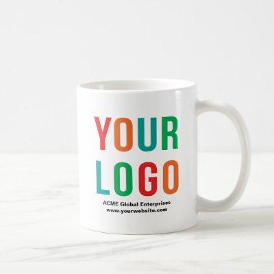 Promotional Items No Minimum, White Logo Mugs
