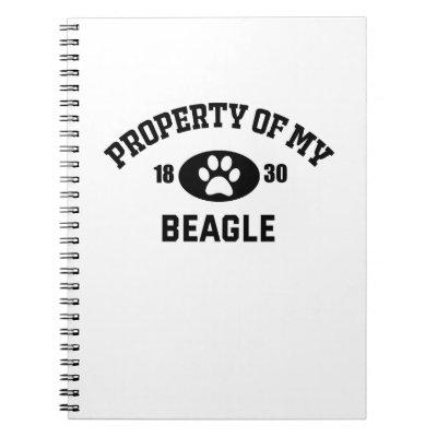Property Of My Beagle Paw 1830 Notebook