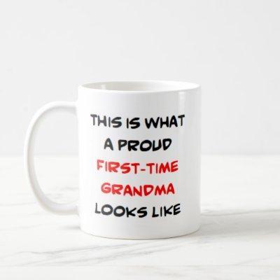 proud first-time grandma coffee mug