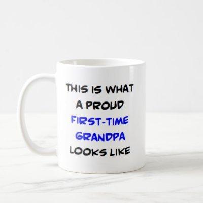 proud first-time grandpa coffee mug