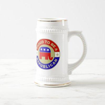 Proud Republican Beer Stein