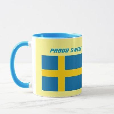 Proud Swede Flag and Crest Mug