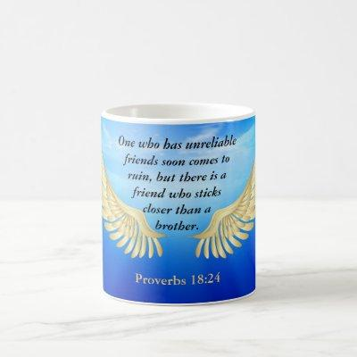Proverbs 18:24 coffee mug