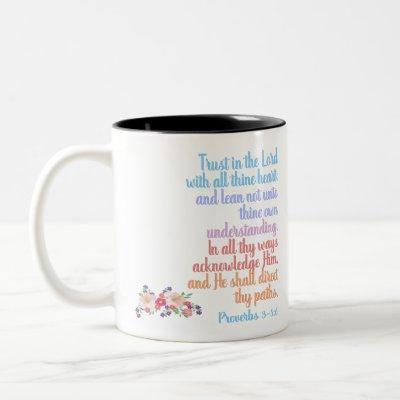 Proverbs Bible Verse Two-Tone Coffee Mug