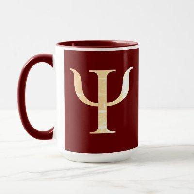 Psychology Science Symbol Maroon Red Mug