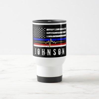 Public Service Trifecta Flag | Travel Mug