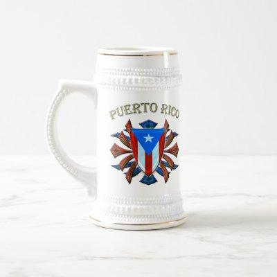 Puerto Rico - Shield Beer Stein