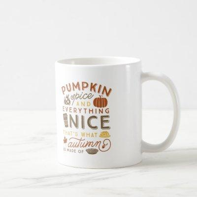 Pumpkin Spice Typographic Autumn Coffee Mug