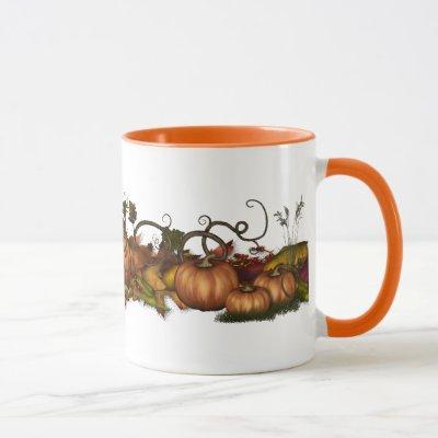 Pumpkins & Autumn Leaves Mug