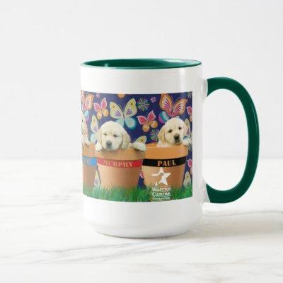 Puppies in Flowerpots mug
