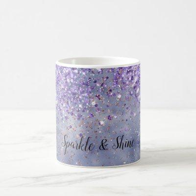 Purple Gold Sparkle Coffee Mug