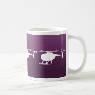 Purple Helicopter Coffee Mug