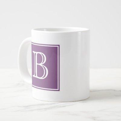 Purple Square Monogram Specialty Mug