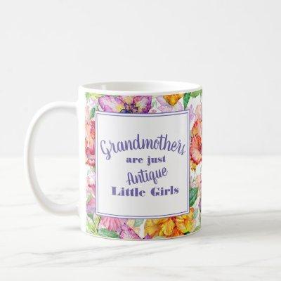 Purple Yellow Floral Grandmothers Little Girls Coffee Mug