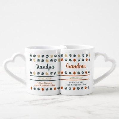 Qualified New Grandparents Contemporary Custom Coffee Mug Set