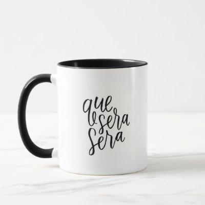 """Que Sera Sera"" - Black Ringer Combo Mug"