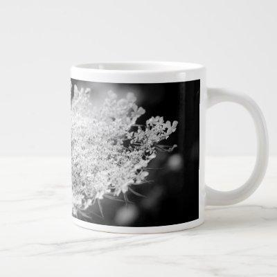Queen Anne's Lace Flower Giant Coffee Mug